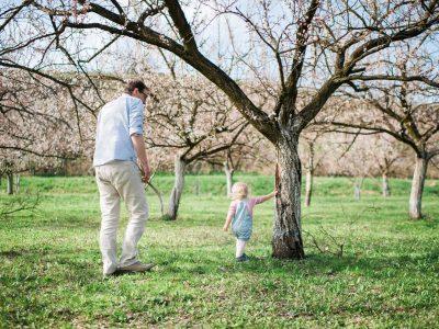 Familienshooting unter blühenden Marillenbäumen | Wachau